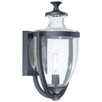 The Great Outdoors by Minka Park Terrace 1 Light Outdoor Wall Lantern in Black 9163-66