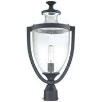 The Great Outdoors by Minka Park Terrace 1 Light Post Mount in Black 9166-66