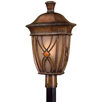 The Great Outdoors by Minka Aston Court 1 Light Post Mount in Aston Patina 9186-184-PL