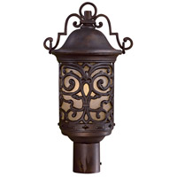 The Great Outdoors by Minka Chelesa Road 1 Light Post Light in Chelesa Bronze 9195-189-PL