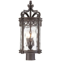 The Great Outdoors by Minka Regal Bay 3 Light Post Mount in Regal Bay Patina 9226-256