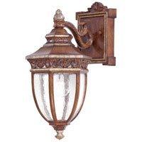 The Great Outdoors by Minka Castle Ridge 1 Light Outdoor Wall in Mossoro Walnut w/Silver Highlights 9231-161