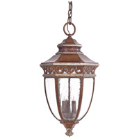 The Great Outdoors by Minka Castle Ridge 3 Light Hanging in Mossoro Walnut w/Silver Highlights 9234-161