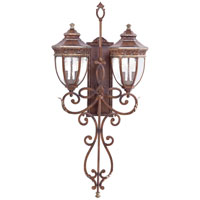 Castle Ridge 4 Light 41 inch Mossoro Walnut w/Silver Highlights Outdoor Wall