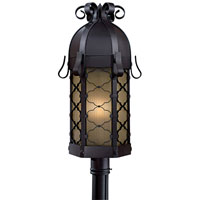Montalbo 1 Light 28 inch Black Post Light in Summer Wheat