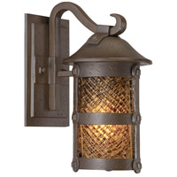 Lander Heights 1 Light 13 inch Forged Bronze Outdoor Wall Mount