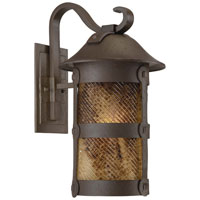 The Great Outdoors by Minka Lander Heights 1 Light Wall Lamp in Forged Iron 9253-A199-PL