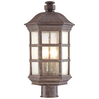 The Great Outdoors by Minka Signature 3 Light Post Light in Dark Sienna 9276-277