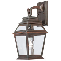 Crossroads Point 1 Light 15 inch Architectual Bronze Outdoor Wall Mount Lantern