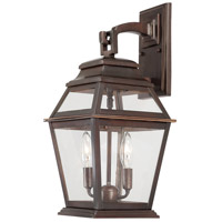 The Great Outdoors by Minka Crossroads Point 2 Light Outdoor Wall Lantern in Architectural Bronze 9282-171