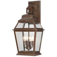 Crossroads Point 4 Light 24 inch Architectual Bronze Outdoor Wall Mount Lantern