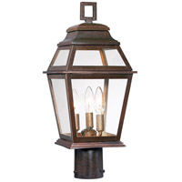Crossroads Point 3 Light 20 inch Architectual Bronze Outdoor Post Mount Lantern