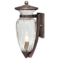 The Great Outdoors by Minka Tuscan Way 1 Light Outdoor Wall Lantern in Iron Oxide 9291-357