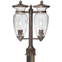 The Great Outdoors by Minka Signature 2 Light Post Light in Iron Oxide 9295-357