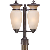 The Great Outdoors by Minka Signature 2 Light Post Light in Iron Oxide 9299-357