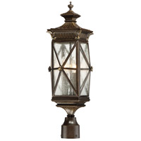 The Great Outdoors by Minka-Lavery Rue Vieille 4 Light Outdoor Post Lantern in Forged Bronze 9316-586