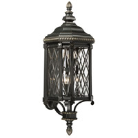 The Great Outdoors by Minka-Lavery Bexley Manor 6 Light Outdoor Wall Lantern in Black W/Gold 9323-585