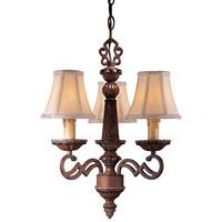 Minka-Lavery Belcaro 3 Light Mini Chandelier in Belcaro Walnut 943-126