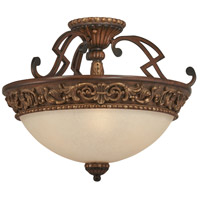 Belcaro 3 Light 18 inch Belcaro Walnut Semi Flush Mount Ceiling Light