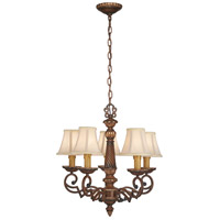 Belcaro 5 Light 22 inch Belcaro Walnut Chandelier Ceiling Light