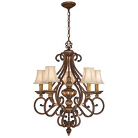 Belcaro 5 Light 28 inch Belcaro Walnut Chandelier Ceiling Light