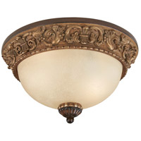Belcaro 2 Light 13 inch Belcaro Walnut Flush Mount Ceiling Light