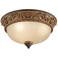 Belcaro 3 Light 15 inch Belcaro Walnut Flush Mount Ceiling Light