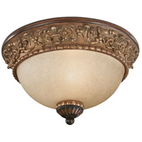Belcaro 1 Light 12 inch Belcaro Walnut Flush Mount Ceiling Light