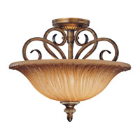 Minka-Lavery Raffine 2 Light Semi-flush in Raffine Aged Patina 962-243