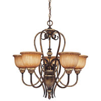 Minka-Lavery 965-243 Raffine 5 Light 26 inch Raffine Aged Patina Chandelier Ceiling Light photo thumbnail