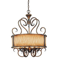 Minka-Lavery Raffine 6 Light Chandelier in Raffine Aged Patina 966-243