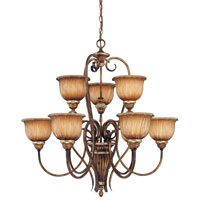 Minka-Lavery Raffine 9 Light Chandelier in Raffine Aged Patina 969-243