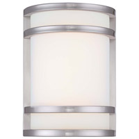 Bay View 1 Light 7 inch Brushed Stainless Steel Outdoor Lantern in LED