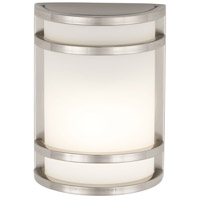 The Great Outdoors by Minka Bay View 1 Light Outdoor Wall in Stainless Steel 9801-144