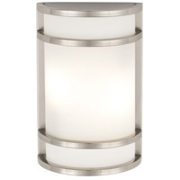 Minka-Lavery 9802-144-PL Bay View 1 Light 12 inch Brushed Stainless Steel Outdoor Wall in GU24 photo thumbnail