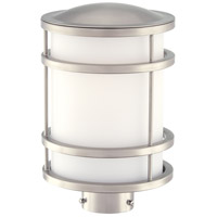 Bay View 1 Light 13 inch Brushed Stainless Steel Post Mount in GU24