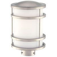 Bay View 1 Light 12 inch Brushed Stainless Steel Outdoor Post Mount Lantern