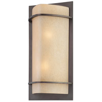 The Great Outdoors by Minka Valencia Bay 2 Light Outdoor Pocket Lantern in Kinston Bronze 9822-298