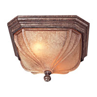 The Great Outdoors by Minka Harrison 2 Light Flushmount in Vintage Rust 9901-61