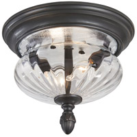 Newport 2 Light 12 inch Heritage Outdoor Flush Mount Lantern