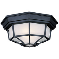 Signature 1 Light 11 inch Black Outdoor Flushmount