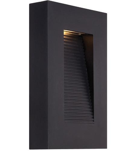 Black Outdoor Wall Light modern forms ws-w1110-bk urban led 10 inch black outdoor wall light