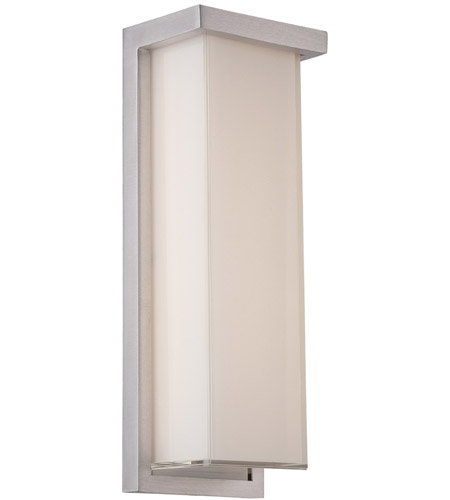 Modern Forms Ws W1414 Al Ledge Led 14 Inch Brushed Aluminum Outdoor Wall Light