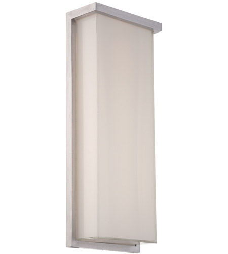 Modern Forms WS-W1420-AL Ledge LED 20 inch Brushed Aluminum Outdoor Wall Light photo