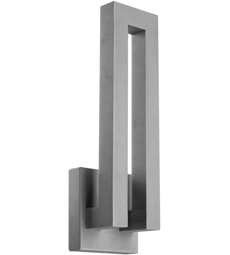 Modern Forms Forq LED Outdoor Wall Light in Graphite WS-W1718-GH photo
