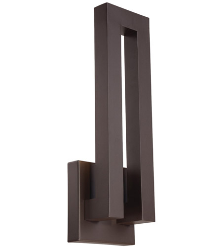 Modern Forms WS-W1718-BZ Forq LED 18 inch Bronze Outdoor Wall Light photo