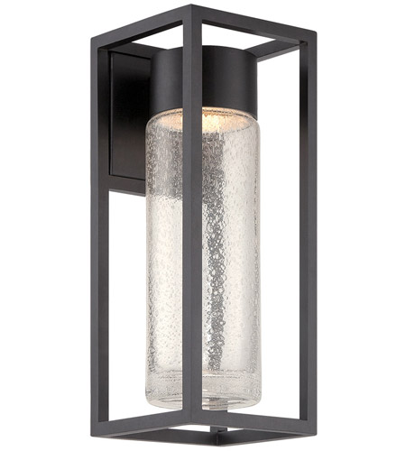 Black Outdoor Wall Light modern forms ws-w5416-bk structure led 16 inch black outdoor wall