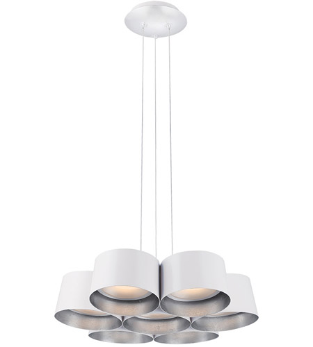 Modern Forms PD-52718-SL Marimba LED 18 inch Silver Leaf Chandelier Ceiling Light photo