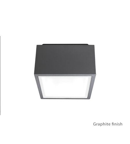 Modern Forms FM-W9200-GH Bloc LED 3 inch Graphite Outdoor Flush Mount photo