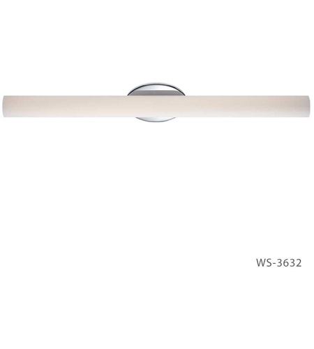 Modern Forms WS-3632-27-CH Loft 1 Light 32 inch Chrome Bath Vanity Wall Light photo